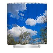 Carolina Blue Sky After The Rain Shower Curtain