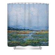 Carolina Country Blues Shower Curtain