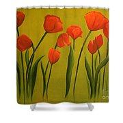 Carolina Tulips Shower Curtain