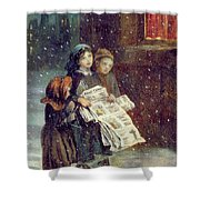 Carols For Sale  Shower Curtain by Augustus Edward Mulready