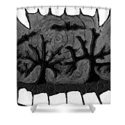 Carols Vampire Shower Curtain