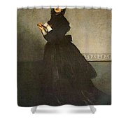 Carolus Duran Lady With A Glove Shower Curtain