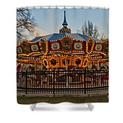 Carousel At Dusk Shower Curtain