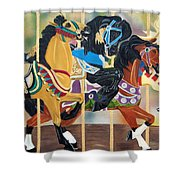 Carousel Beauties Shower Curtain