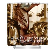 Carousel Color Quote Shower Curtain