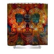 Carousel Faces, Twins Shower Curtain