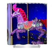 Carousel Floral Beauty Shower Curtain