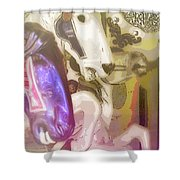 Carousel Gallop Shower Curtain