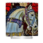 Carousel Horse - 7 Shower Curtain