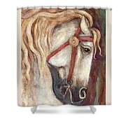 Carousel Horse Painting Shower Curtain