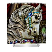 Carousel Horse  Shower Curtain by Paul Ward