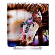 Carousel Horse Portrait Shower Curtain
