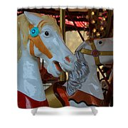 Carousel Horses At A Fair Shower Curtain