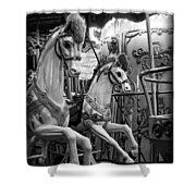 Carousel Horses No. 1 Shower Curtain
