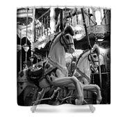 Carousel Horses No.2 Shower Curtain