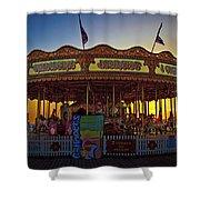 Carousel Sunset Shower Curtain