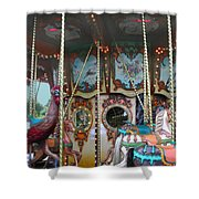 Carousel With Mirrors Shower Curtain