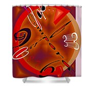 Carpe Tempora Shower Curtain