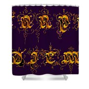 Carpediem Redgold Shower Curtain