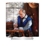 Carpenter - The Woodturner Shower Curtain