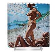 Carpenteria Nude Beach Shower Curtain
