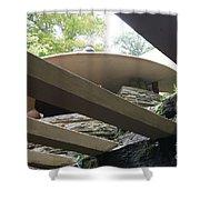 Carport Fallingwater Frank Lloyd Wright Architect  Shower Curtain