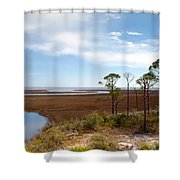Carrabelle Salt Marshes Shower Curtain