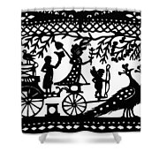 Carriage & Peacocks Shower Curtain