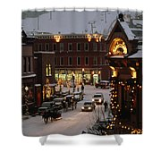 Carriage And Slded On Snowy Steets Shower Curtain