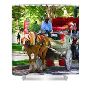 Carriage Colors Shower Curtain