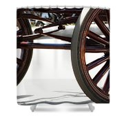 Carriage Wheels Shower Curtain