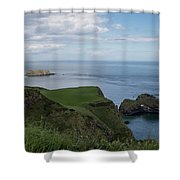 Carrick Island From Portaneevey Shower Curtain