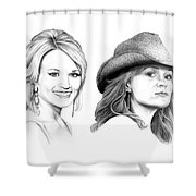 Carrie And Carrie Underwood Shower Curtain