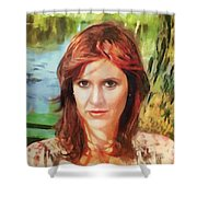 Carrie Fisher Shower Curtain