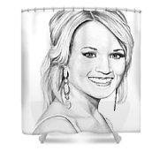 Carrie Underwood Shower Curtain