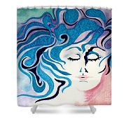 Carried By Angels Shower Curtain
