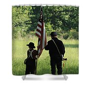 Carrier Of The Flag Shower Curtain