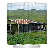 Carrizo Plain Ranch Shower Curtain