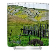 Carrizo Plain Ranch Wildflowers Shower Curtain
