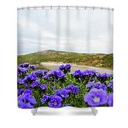 Carrizo Plains Phacelia Shower Curtain