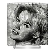 Carroll Baker Vintage Hollywood Actress Shower Curtain