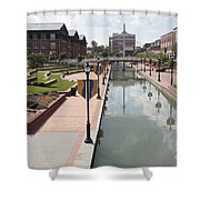 Carroll Creek Park In Frederick Maryland Shower Curtain
