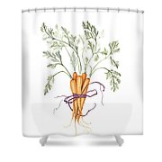 Carrot Harvest Shower Curtain