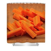 Carrot Sticks Shower Curtain