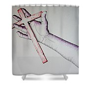 Carry Your Cross Shower Curtain