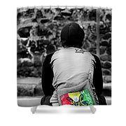 Carrying Colors Shower Curtain