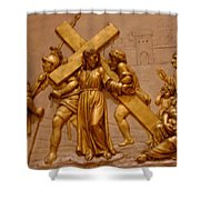 Carrying Cross Shower Curtain
