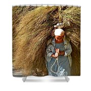 Carrying The Hay Shower Curtain