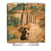 Carrying Wood II Shower Curtain
