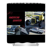 Cars From American Graffiti Shower Curtain